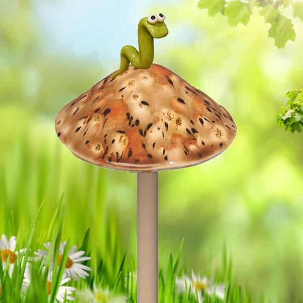 Safari Mushroom With Worm   Small
