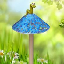 Blue Mushroom with Worm - Small