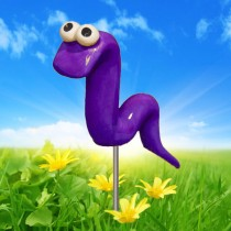 Purple Garden Worm